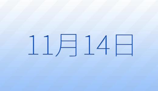 11月14日は何の日?記念日、出来事、誕生日占い、有名人、花言葉などのまとめ雑学