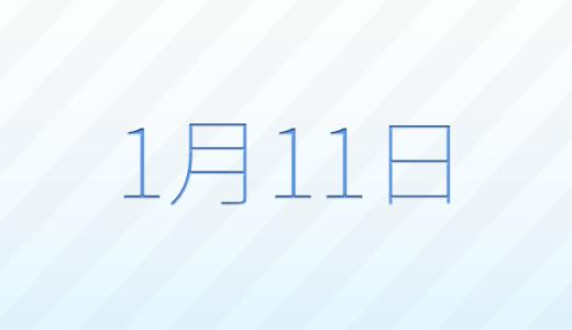 1月11日は何の日?記念日、出来事、誕生日占い、有名人、花言葉などのまとめ雑学