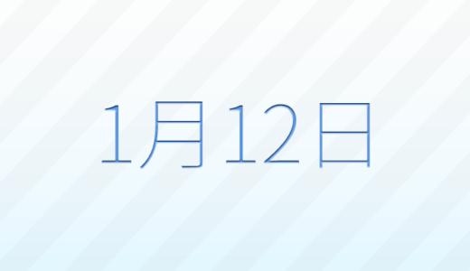 1月12日は何の日?記念日、出来事、誕生日占い、有名人、花言葉などのまとめ雑学