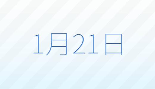 1月21日は何の日?記念日、出来事、誕生日占い、有名人、花言葉などのまとめ雑学