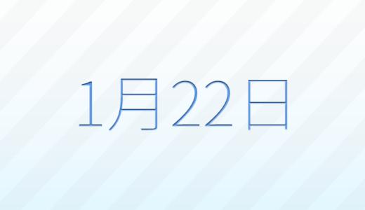 1月22日は何の日?記念日、出来事、誕生日占い、有名人、花言葉などのまとめ雑学