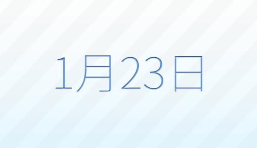 1月23日は何の日?記念日、出来事、誕生日占い、有名人、花言葉などのまとめ雑学