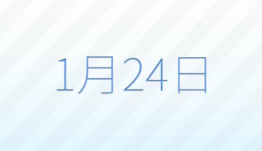 1月24日は何の日?記念日、出来事、誕生日占い、有名人、花言葉などのまとめ雑学