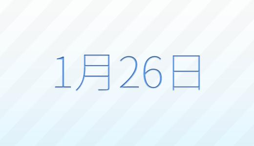 1月26日は何の日?記念日、出来事、誕生日占い、有名人、花言葉などのまとめ雑学