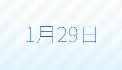1月29日は何の日?記念日、出来事、誕生日占い、有名人、花言葉などのまとめ雑学