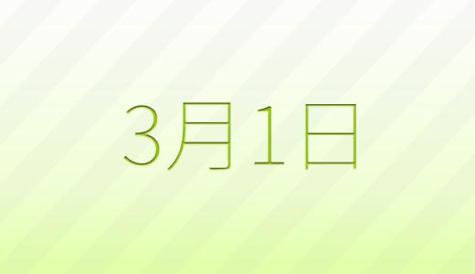 3月1日は何の日?記念日、出来事、誕生日占い、有名人、花言葉などのまとめ雑学