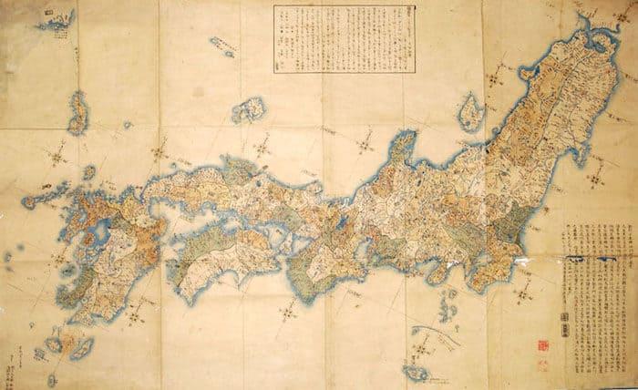 伊能忠敬 日本地図