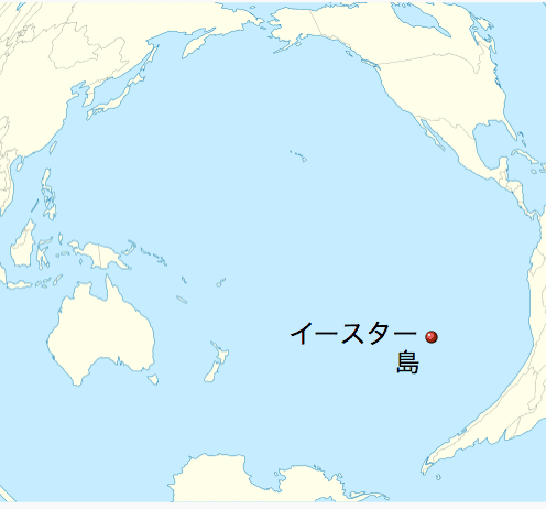 イースター島の位置