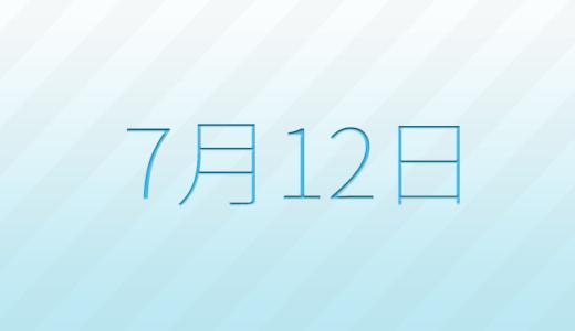 7月12日は何の日?記念日、出来事、誕生日占い、有名人、花言葉などのまとめ雑学