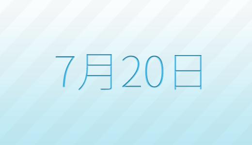 7月20日は何の日?記念日、出来事、誕生日占い、有名人、花言葉などのまとめ雑学