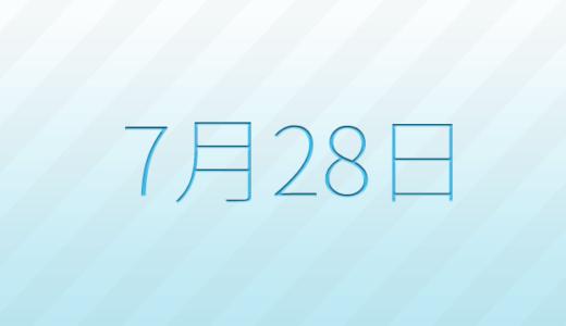 7月28日は何の日?記念日、出来事、誕生日占い、有名人、花言葉などのまとめ雑学