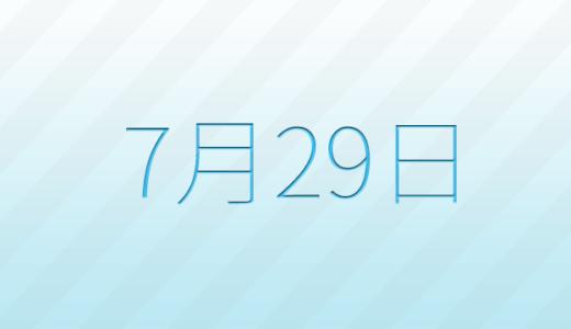 7月29日は何の日?記念日、出来事、誕生日占い、有名人、花言葉などのまとめ雑学