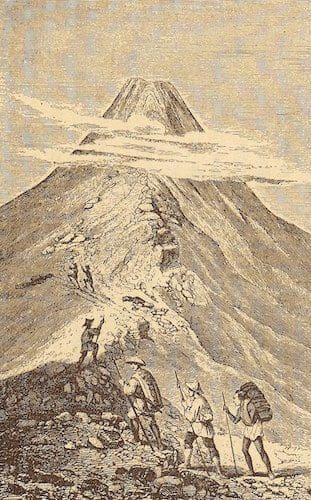 オールコック氏の富士山登頂
