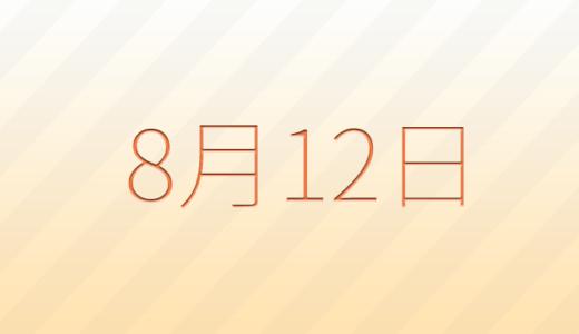 8月12日は何の日?記念日、出来事、誕生日占い、有名人、花言葉などのまとめ雑学