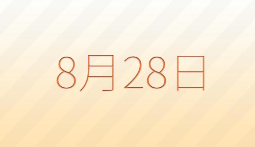 8月28日は何の日?記念日、出来事、誕生日占い、有名人、花言葉などのまとめ雑学