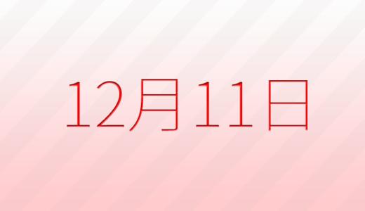 12月11日は何の日?記念日、出来事、誕生日占い、有名人、花言葉などのまとめ雑学