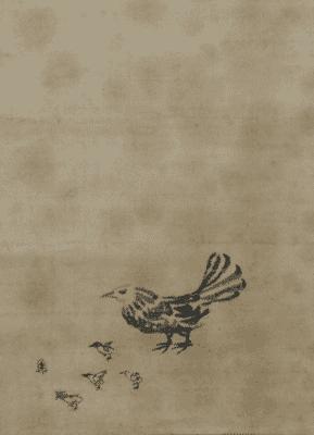 家光画:「鶏図」