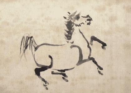 野馬図 吉宗画